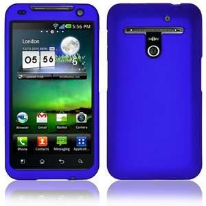 New High Quality Amzer Rubberized Blue Snap Crystal Hard Case For Lg