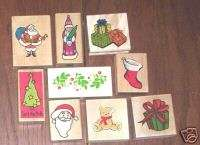 Woodmounted rubber stamps Christmas NEW CMC stamping