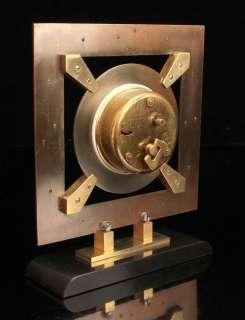 FRENCH ART DECO MACHINE AGE 8 DAYS BAYARD CLOCK BRONZE BRASS MISTERY