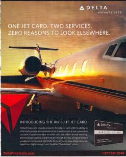 DELTA AIRLINES PRIVATE JET AIR ELITE JET CARD AD