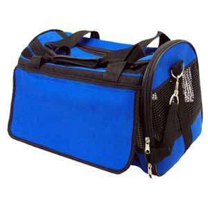 FASHION PET TRAVEL GEAR CARRIER LARGE BLUE SOFT AIRLINE