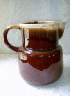 McCoy Brown Drip Milk Water Pitcher USA Brown Cream