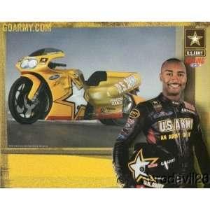 2004 Antron Brown ARMY drag bike NHRA postcard: Everything