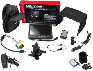 LCD4Video 7 On Camera LCD Monitor Premium Kit