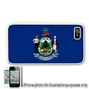 Maine State Flag Apple Iphone 4 4s Case Cover White
