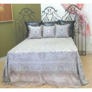 Luxurious Merino Wool Kalam Paisley Bedspread Bedcover Coverlet 98
