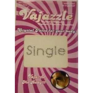 Bundle Vajazzle Single and Aloe Cadabra Organic Lube Lavender 2.5 Oz