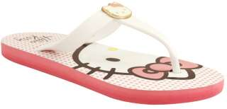 Hello Kitty Zoe Charm Flip Flops Pink Vegan Thong Sandals Shoes