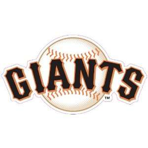 San Francisco Giants Glass Tatz Mini Cutz Window Decal