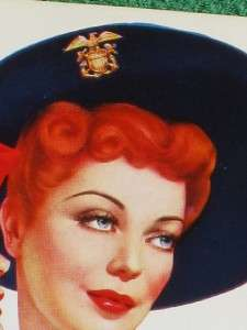 ESQUIRE ART ESKY POSTCARD PINUP ARMY NAVY AIR FORCE VARGAS