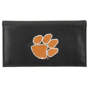Clemson Tigers Black Embroidered Checkbook Cover