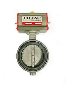 Butterfly Valve & Triac Pneumatic Rotary Actuator #1