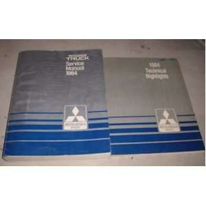 1984 Mitsubishi Truck Service Repair Shop Manual Set 84