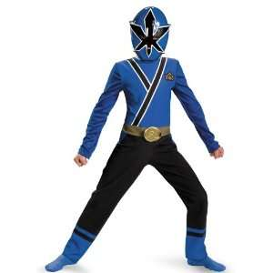 Blue Ranger Samurai Costume Small 4 6 Kids Halloween 2011