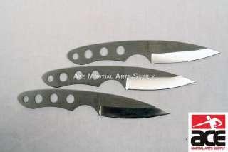 Set 3 Ninja Stealth Silver Throwing Knives w/Nylon Case