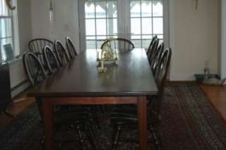 New 6 ft Farm Table, Rustic Wood Harvest Dining Table