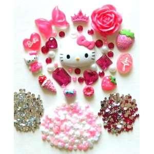 DIY Hello Kitty Bling Bling Cell Phone Case Resin Flatback