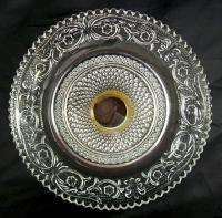 Beautiful Ornate Clear Glass Footed Dish Kig Indonesia
