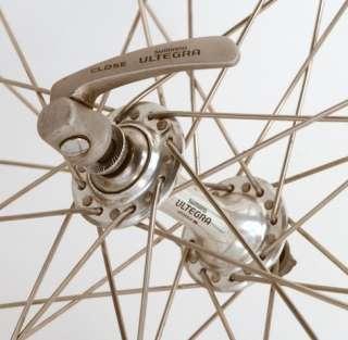 Shimano Ultegra 6500 Mavic CXP 33 road bike front wheel black rim