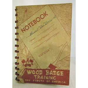 BADGE TRAINING NOTEBOOK Boy Scouts of America 1956