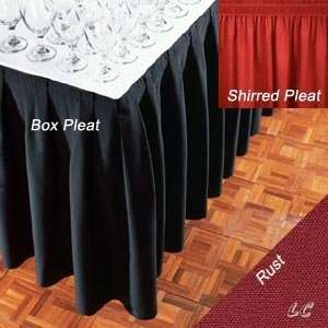 17 Feet Rust Signature Banquet Table Skirts Wholesale: Home & Kitchen