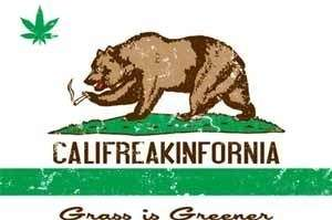 Grass Is Greener Funny T Shirt California Marijuana Pot Tee