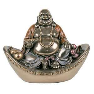 Fortune Buddha On Nugget   Collectible Buddhism Sculpture