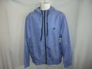 ARTFUL DODGER DIAMOND FULL ZIP HOODED HOODIE JACKET TOP BLUE NEW L NWT