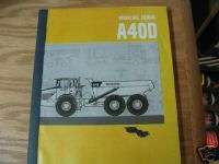 Volvo A40D Articulated Haul Truck Operators manual