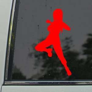 Naruto Tsunade Red Decal Car Truck Bumper Window Red