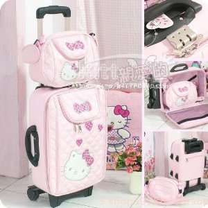 /rose Red Cover Big and Small/18 Inch Light Pink Hello Kitty Luggage