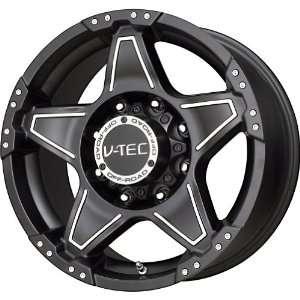 V Tec Matte Black Machined Wheel (22x9.5/6x139.7mm
