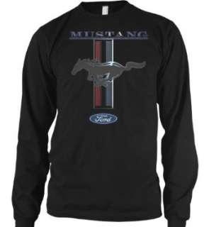 Ford Mustang Horse Logo Mens Long Sleeve Thermal Shirt Clothing