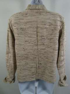 TOWN AND TRAVEL Beige & Brown Tweed Blazer Jacket Sz XS
