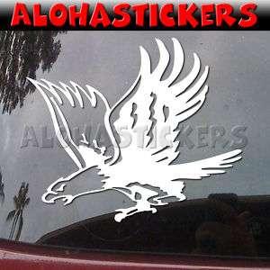 ATTACKING EAGLE Hawk Falcon Vinyl Decal Car Sticker B42