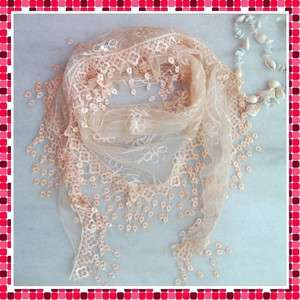 2011 Fashion Women Lace Triangular Scarf Shawl Gorgeous Christmas Gift