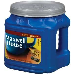 Maxwell House Coffee, Slow Roast, 33 oz (Pack of 4)