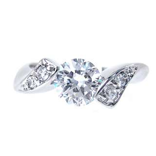 fashion gift jewelry GP TOPAZ RHINESTONES WHITE GOLD LADY JEWELRY RING