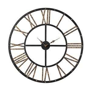 1024 Metal Framed Roman Numeral Open Back Wall Clock Home & Kitchen