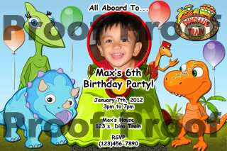 Dinosaur Train   Birthday Invitations