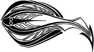 Tribal Fish Vinyl Decal Car Truck Boat Window Sticker