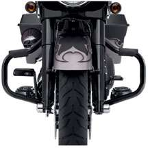 Harley Mustache Engine Guard   Gloss Black 49442 10