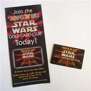 Star Wars Special Promo Toys R Us Gold Reward Card