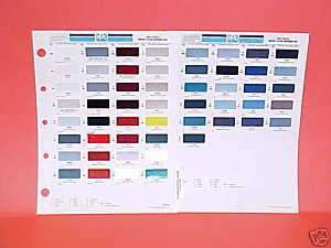 1993 TOYOTA PAINT CHIPS COLOR CHART GUIDE BROCHURE 93