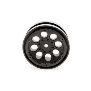AXIAL 8087 8 Hole Beadlocks 1.9 Black (2 pc)