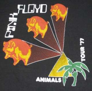 1977 PINK FLOYD VTG TOUR T SHIRT concert ANIMALS 70s OG