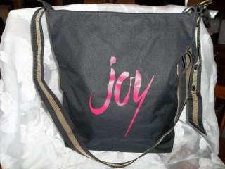 Beautiful Weekenders Black & Pink Messenger Tote Bag