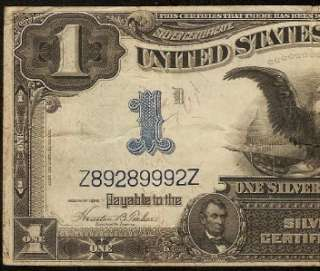 DOLLAR BILL SILVER CERTIFICATE BLACK EAGLE NOTE OLD PAPER MONEY