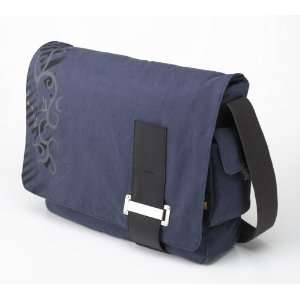 Earth Friendly Canvas Messenger Bag (Blue)
