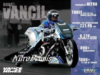 VANCIL 110 Milestone DRAG BIKE Motorcycle TOP FUEL HARLEY Vance Hines